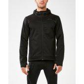2XU HEAT Membrane Hooded Jacket - neagra - jacheta alergare