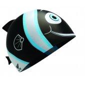 TYR Casca inot silicon copii Happy Fish neagra