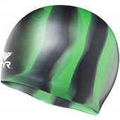 TYR casca inot silicon multicolor negru-verde