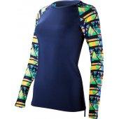 TYR Santa Rosa bluza cu mane lunga pentru inot navy-coral