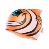 Casca inot Happy Fish copii portocalie