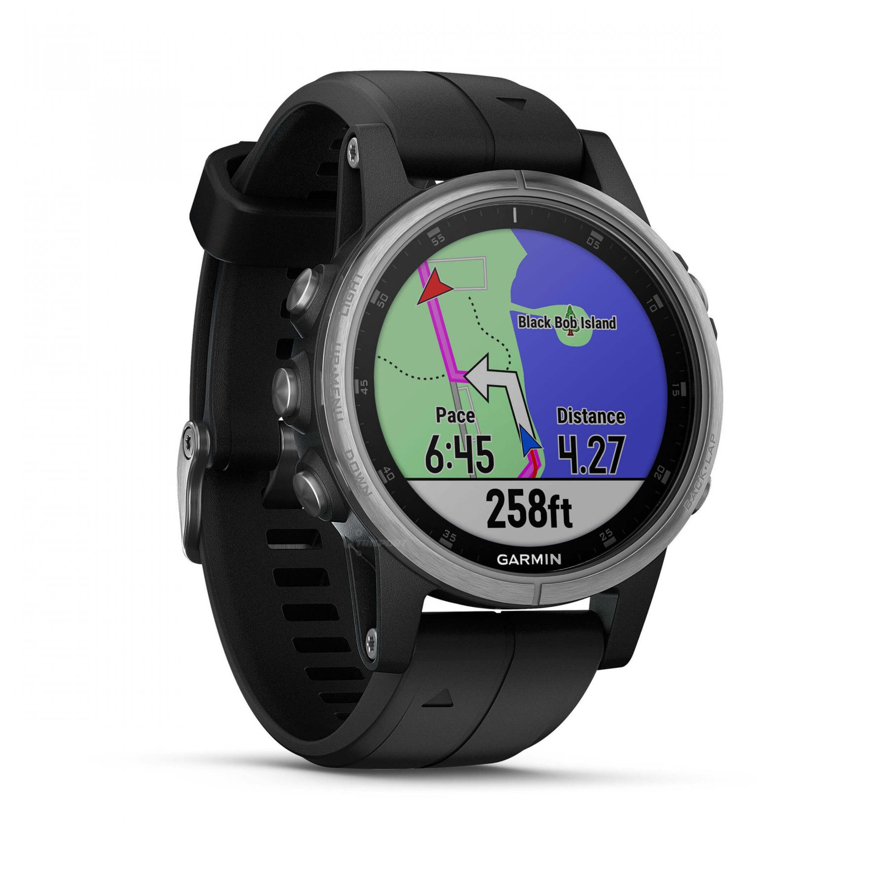 garmin fenix 5s plus silver negru. Black Bedroom Furniture Sets. Home Design Ideas