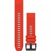 Garmin curea silicon rosie QuickFit 22 pentru Fenix 5