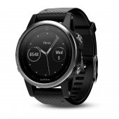Garmin Fenix 5S Silver with black band