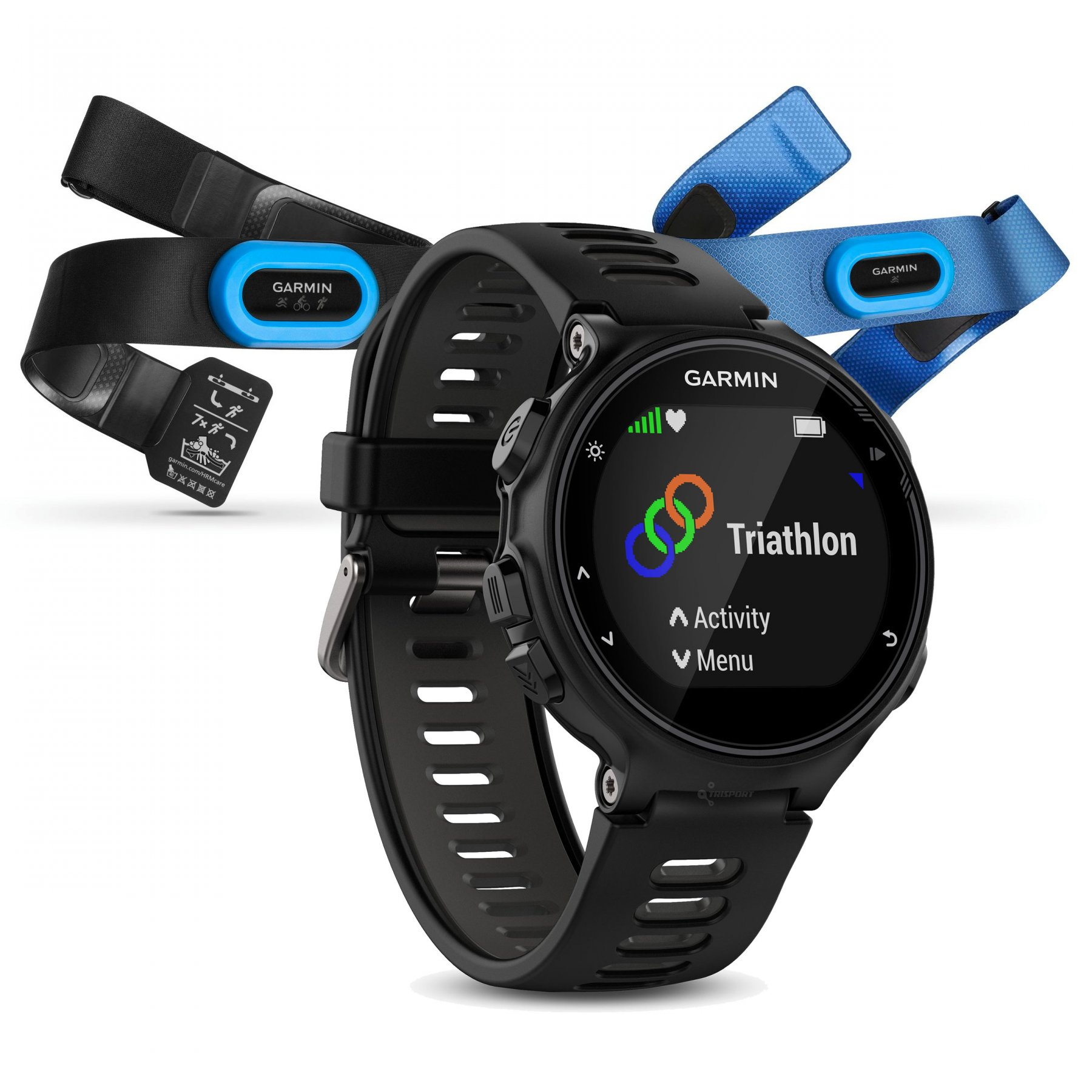 garmin forerunner 735xt black grey tri bundle. Black Bedroom Furniture Sets. Home Design Ideas